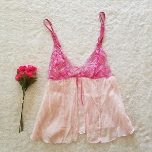 Victoria's Secret Pink Embroidered Lingerie Top